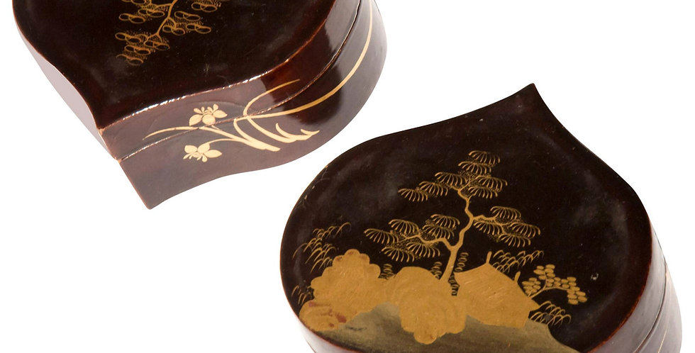 Pair of 19th century Japanese Lacquer Boxes