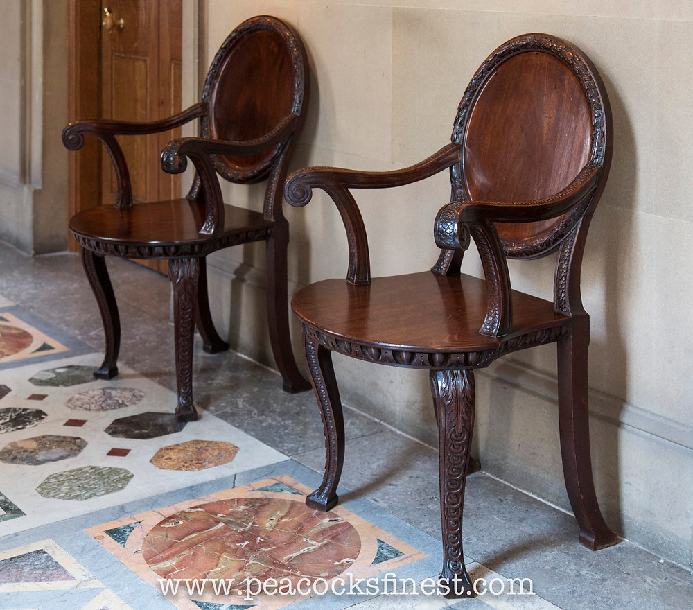 Chatsworth House hall chairs by William Kent