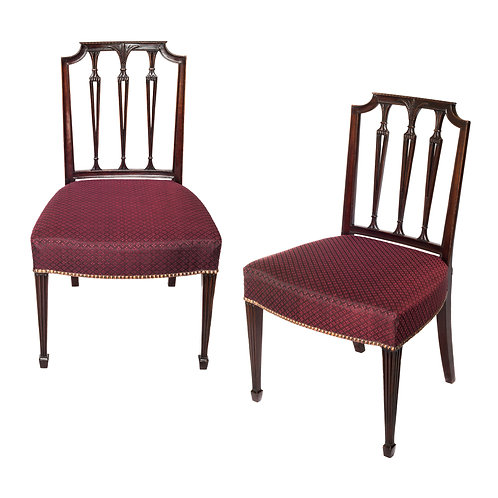Fine Set of 19th Century Hepplewhite Style Chairs