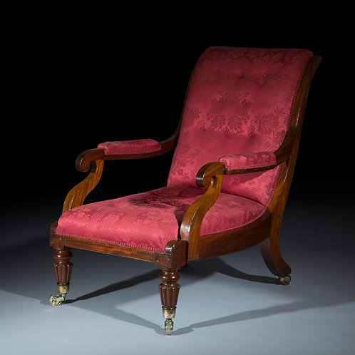 Large Antique Armchair in Mahogany, attributed to Gillows