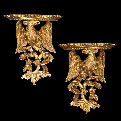Pair of Chinoiserie Giltwood Wall Brackets