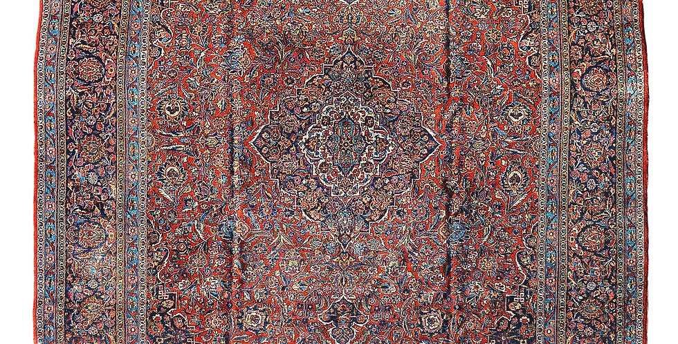Fine Vintage Large Persian Kashan Carpet