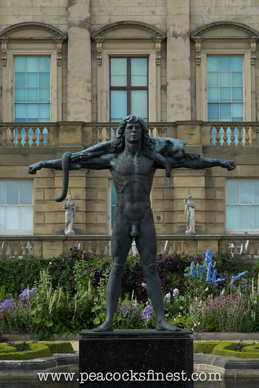 Harewood House, The Terrace. 'Orpheus' by Astrid Zydower, 1984.