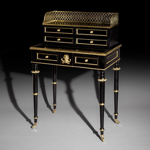 Regency Ebonised and Brass Mounted Desk, attributed to John McLean