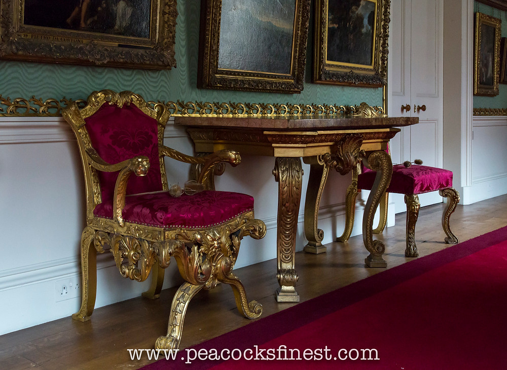 Chatsworth House, The G​allery. William Kent furniture