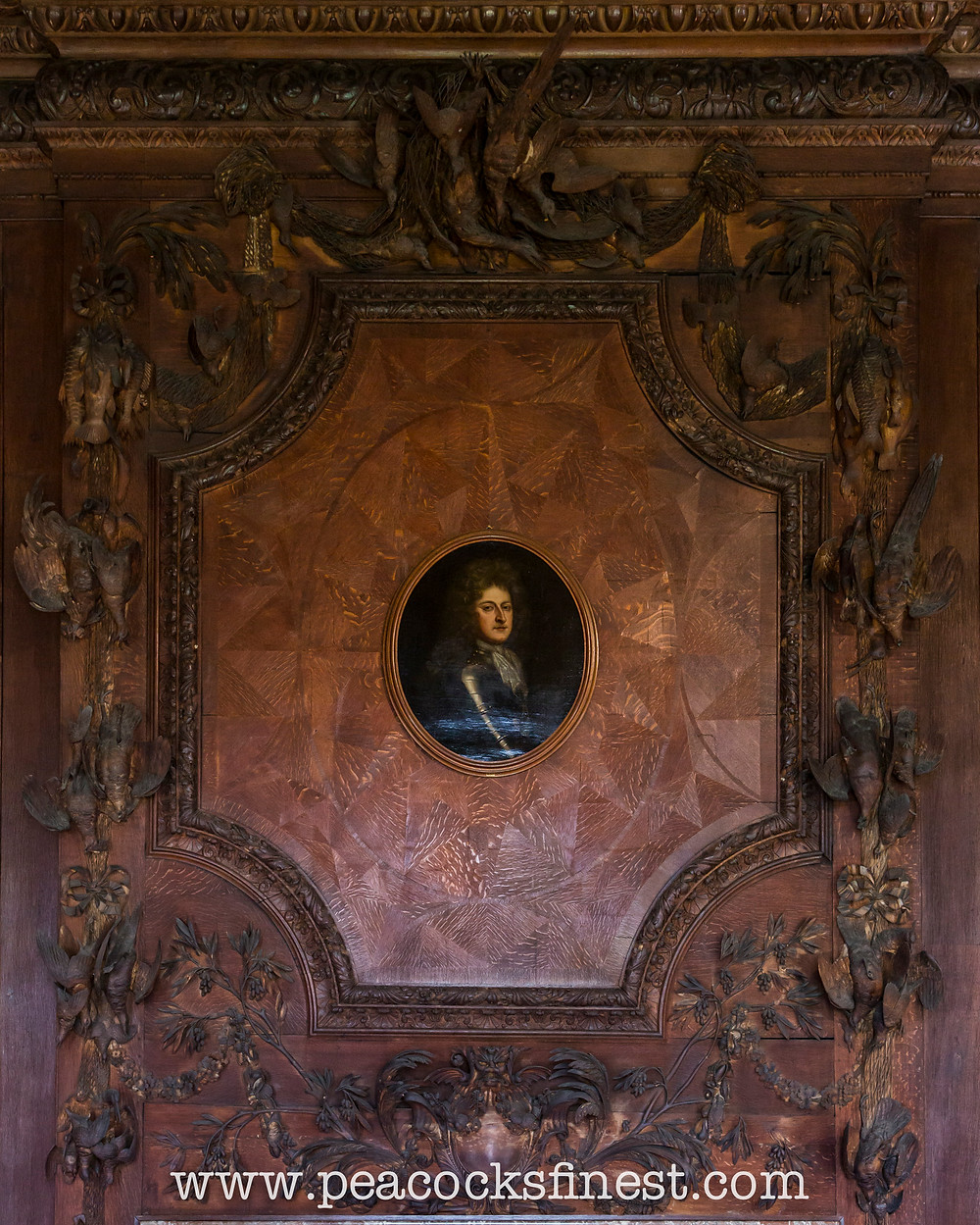 Chatsworth House, overmantle, attributed to Samuel Watson