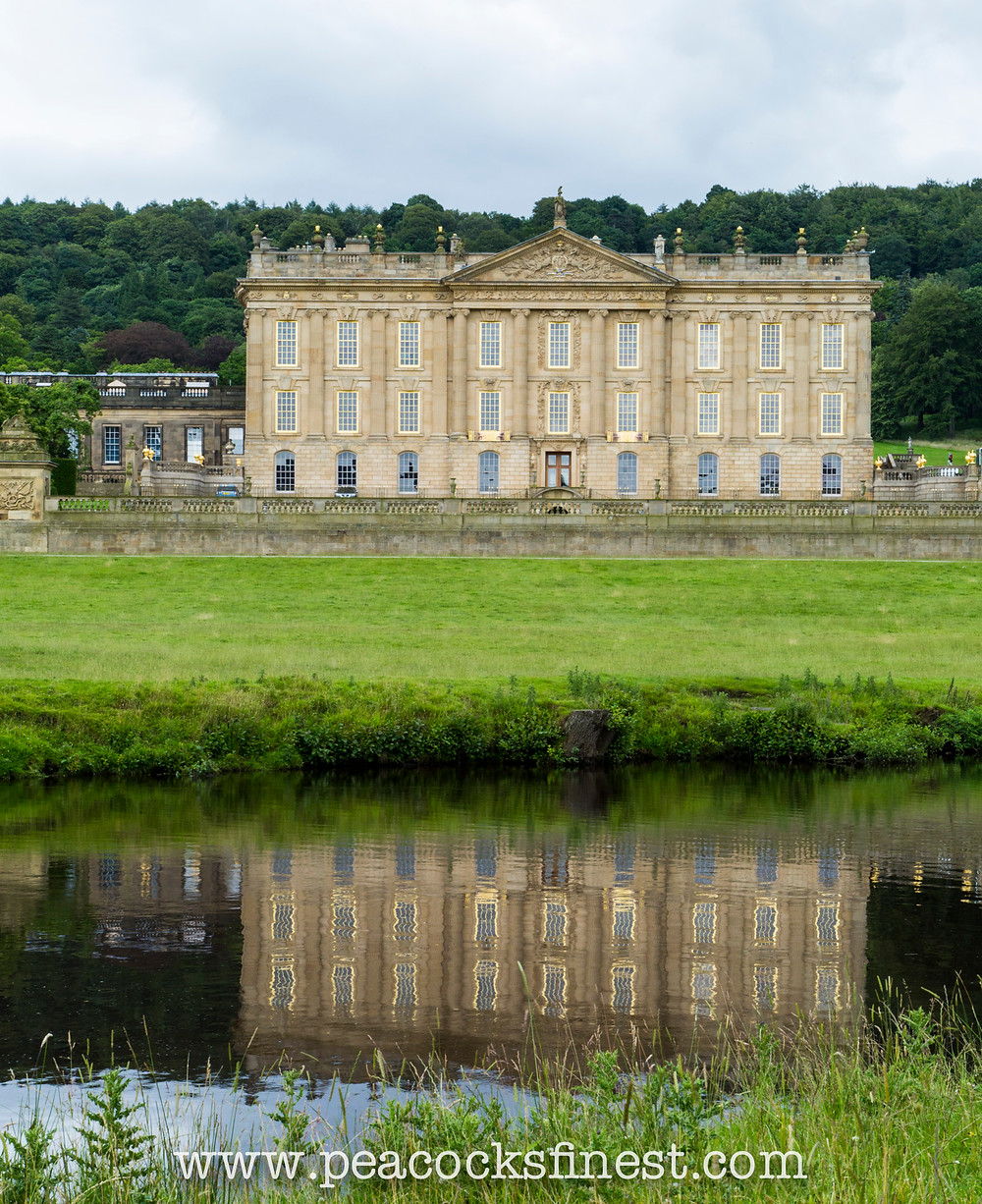 Chatsworth House, Derbyshire. Water reflection