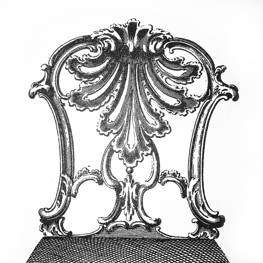 Detail of a chair design by Thomas Chippendale, 1761