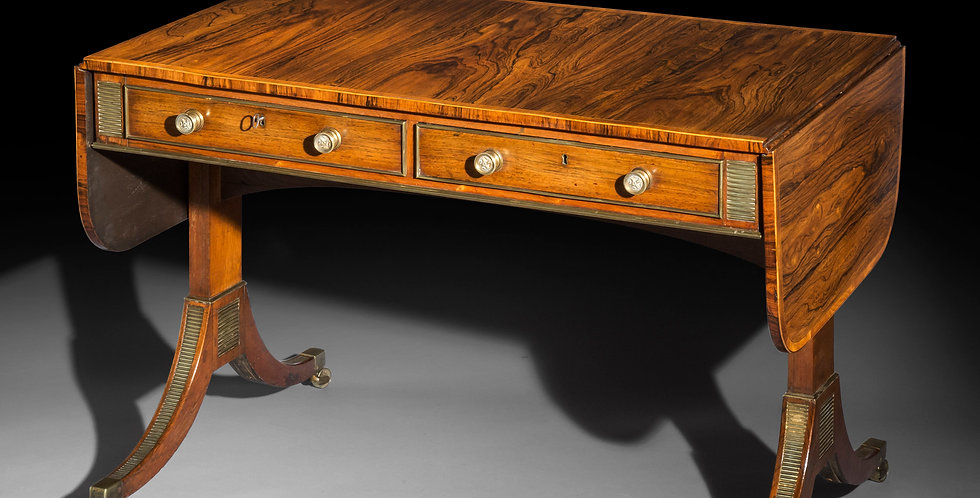 Fine Regency Sofa Table by John McLean