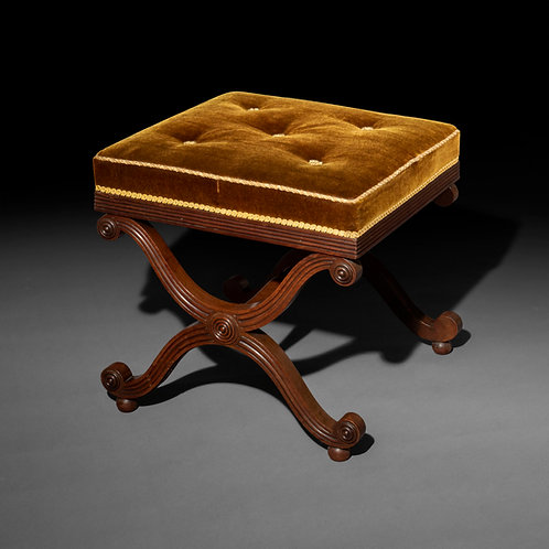 Regency X-Frame Stool after a design by Thomas Hope