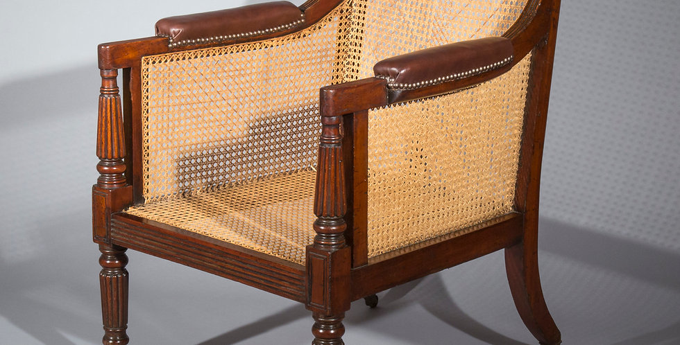 Antique Caned Bergere Armchair attributed to Gillows