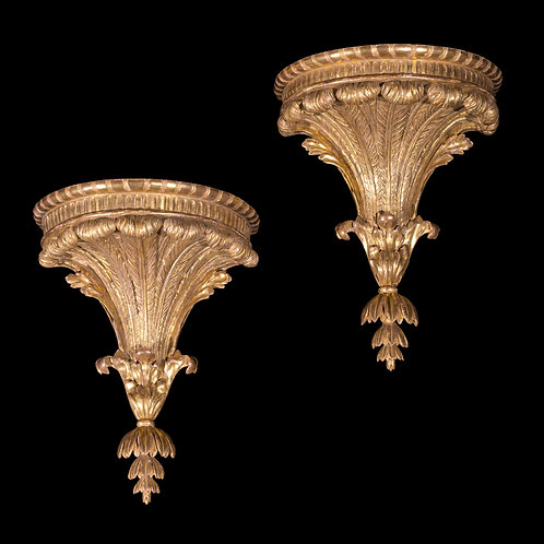 Fine Pair of George III Giltwood Wall Brackets