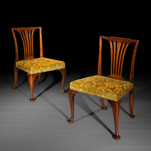 Pair of George II Side Chairs, Attributed to Giles Grendey