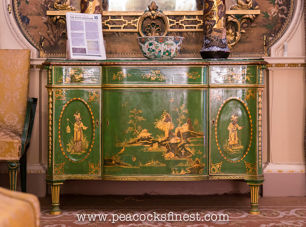 Green Chinoiserie Commode by Chippendale at Nostell Priory