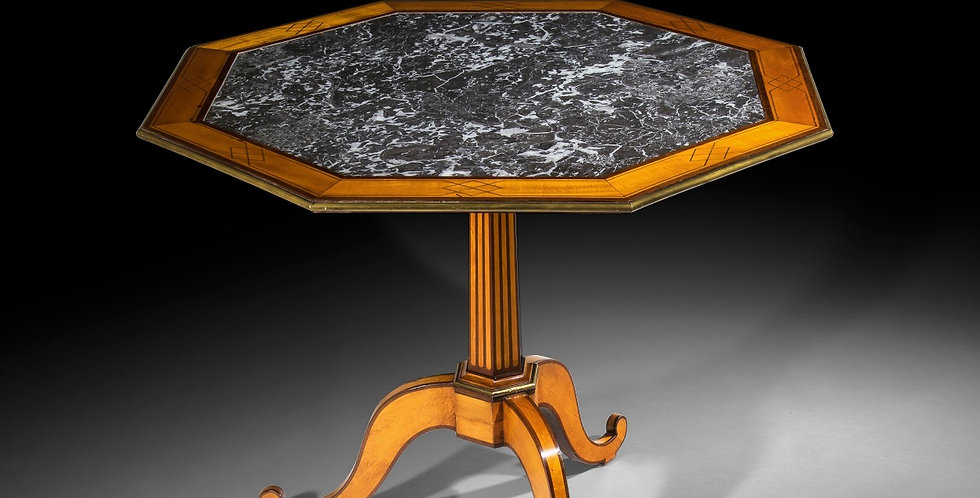 Louis XVI Satinwood, Amaranth and Brass Mounted Table