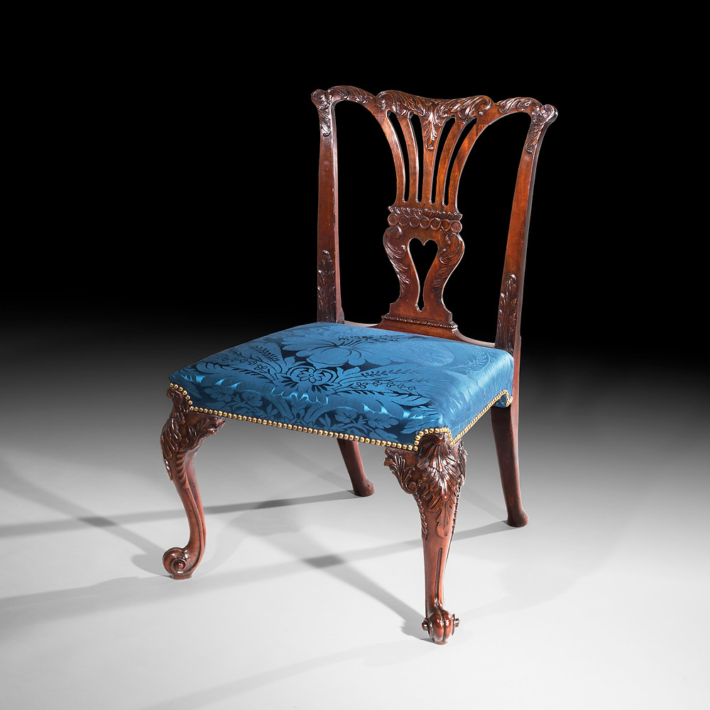 A George II chair, in the French manner, attributed to the St Martin's Lane Syndicate.