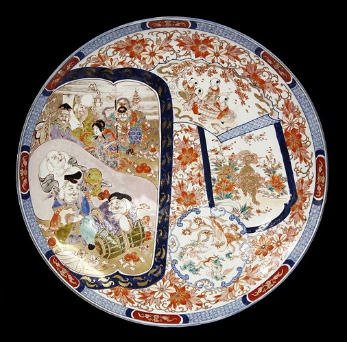 Massive Japanese Meiji Imari Porcelain Dish