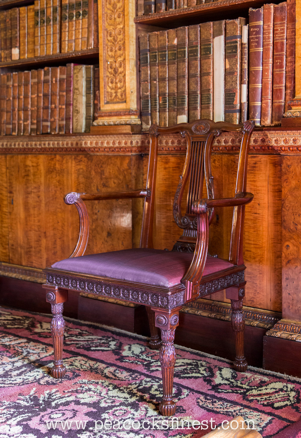 Nostell Priory, Chippendale's lyre back chair