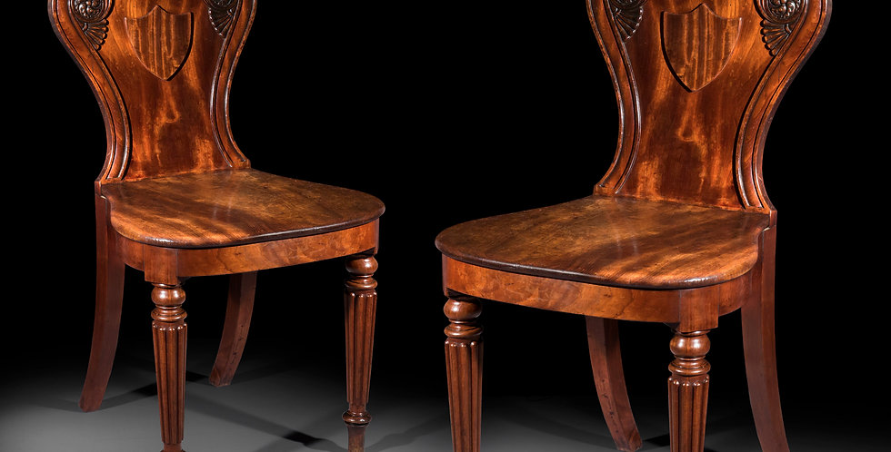 Pair of Regency Hall Chairs, by Gillows
