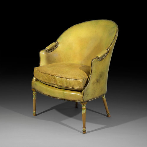 Fine 19th Century Leather Armchair