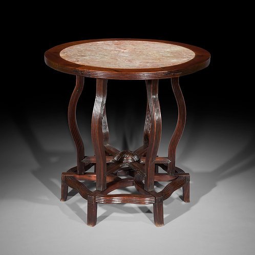 Anglo-Chinese Marble Top Table