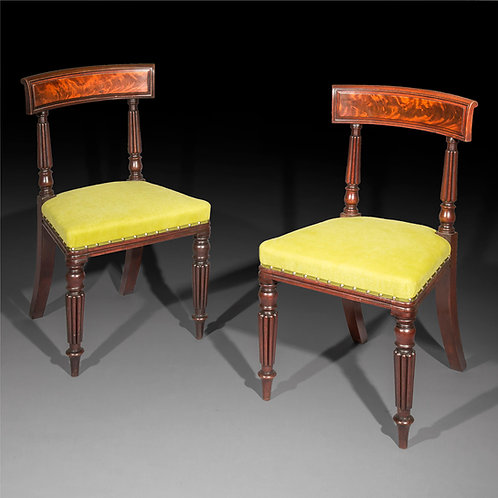 Pair of Regency Side Chairs, in the manner of George Bullock