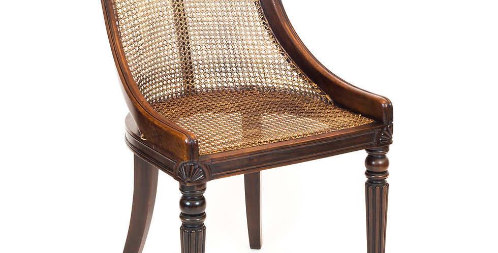 Fine Regency Bergere Chair, Attributed to Gillows