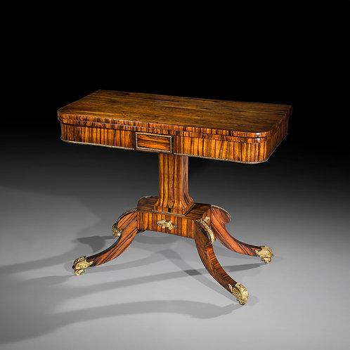 Regency Ormolu Mounted Calamander Card Table