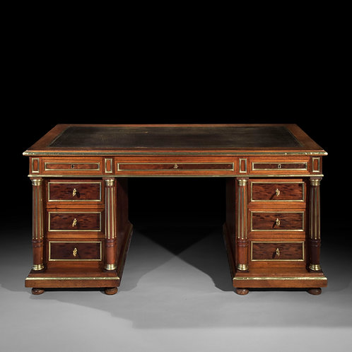 Superb Louis XVI Style Brass Mounted Desk