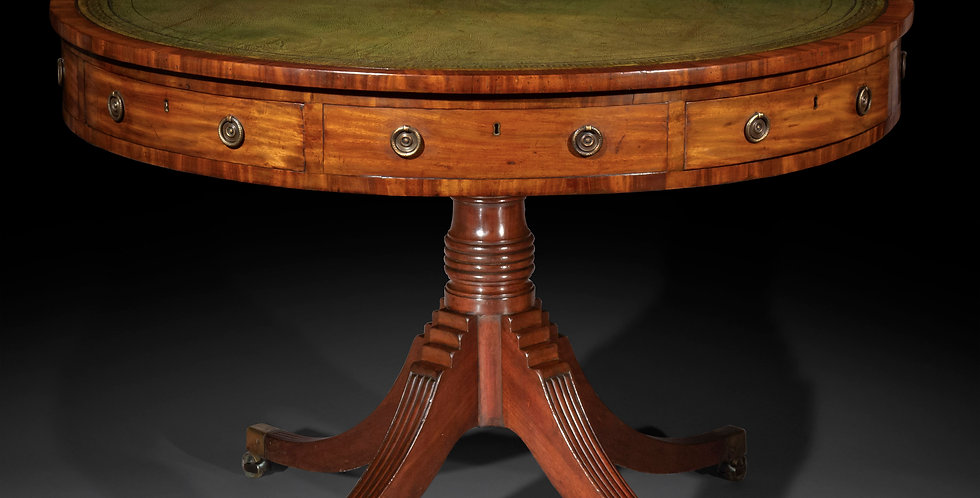George III Library Drum Table
