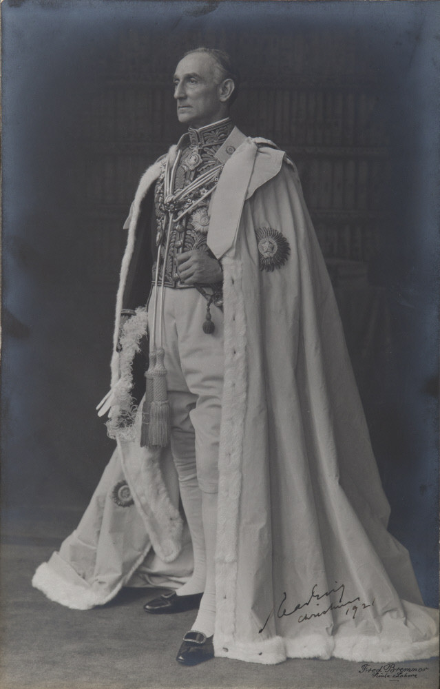 Rufus Daniel Isaacs, 1st Marquess of Reading (1860-1935) in 1921 by Fred Bremner (photographer), India. Photo credit: National Trust
