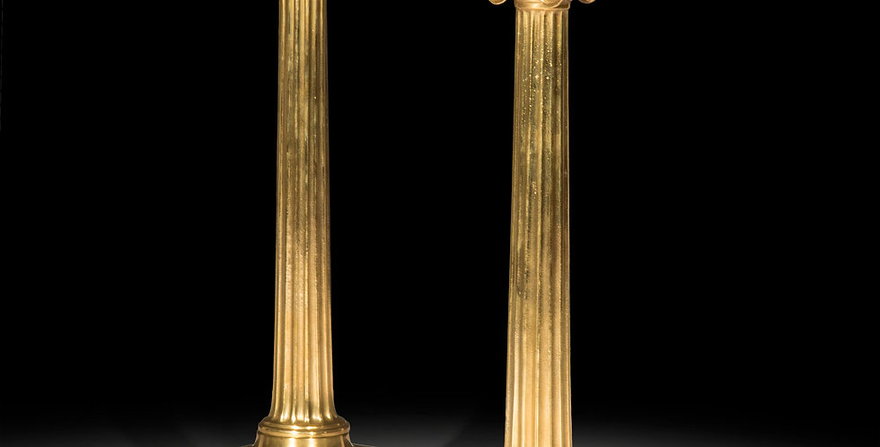 Pair of Ionic Column Table Lamps