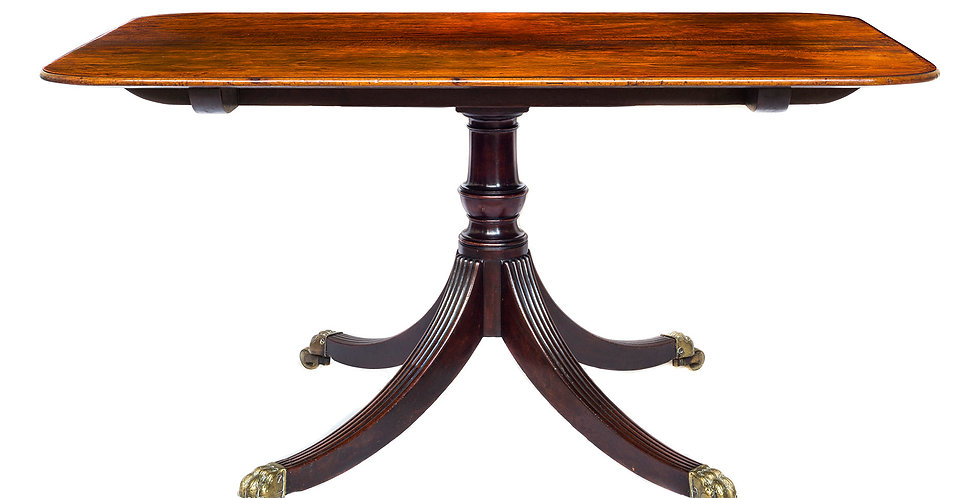 Fine George III Figured Mahogany Breakfast Table