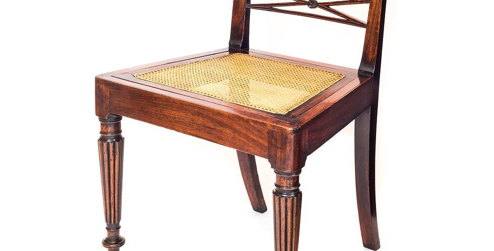 English Colonial Regency Padouk Side Chair
