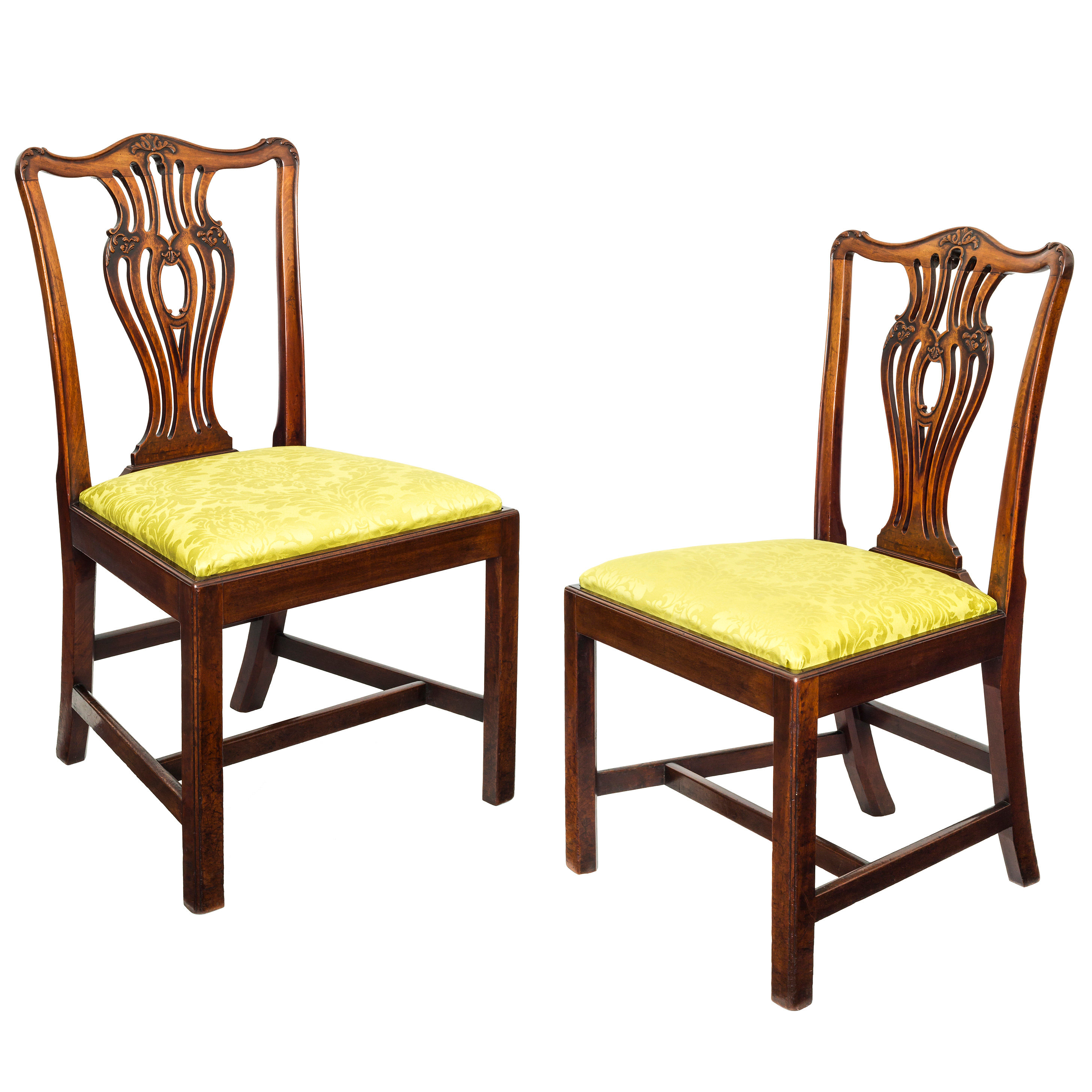 ... Mahogany Chippendale Chairs. Loading Zoom.