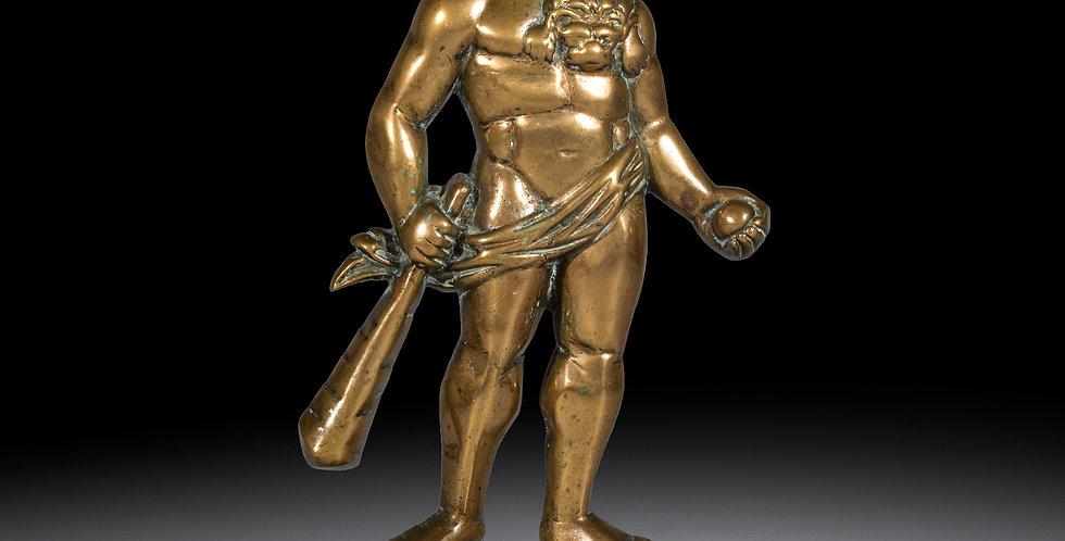 19th Century Brass Doorstop Figure of Hercules