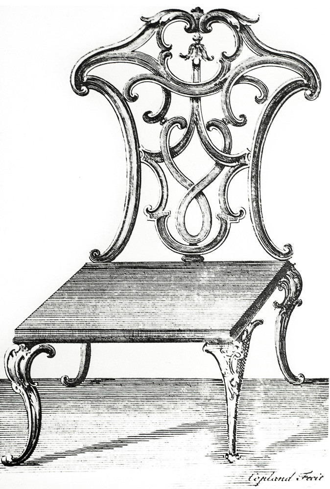 Henry Copeland design for a hall chair
