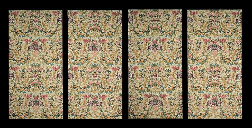 Set of Four Antique Textile Panels