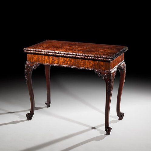 Antique Georgian Chippendale Concertina Card Table in Mahogany