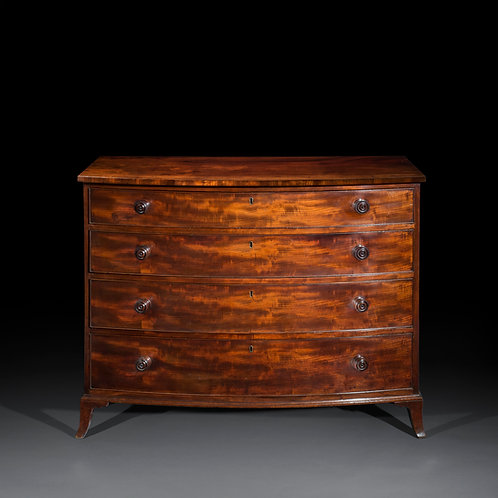 Antique Bow-Front Chest of Drawers, Attributed to Gillows