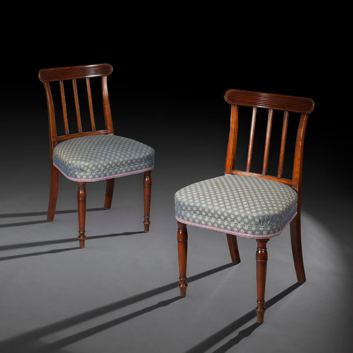 Six Antique Georgian Dining Chairs in the manner of John Soane