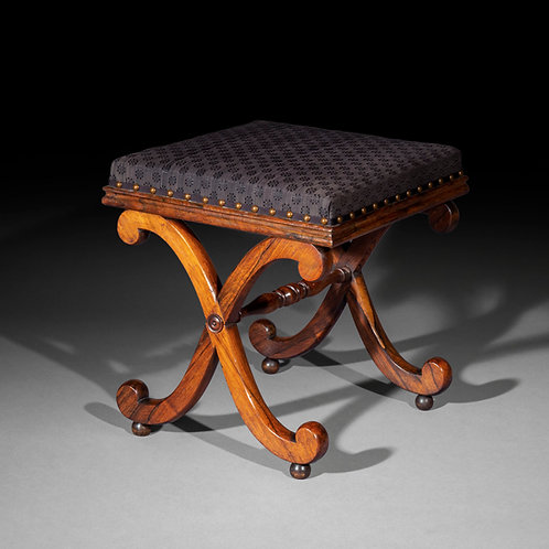 Regency X-Frame Stool, after Thomas Hope