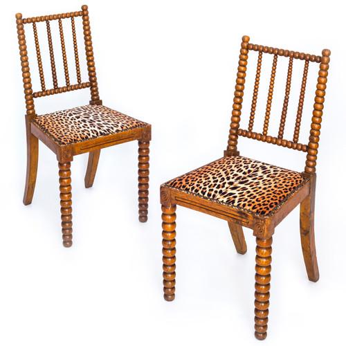 Pair Of Unusual William IV Bobbin Chairs