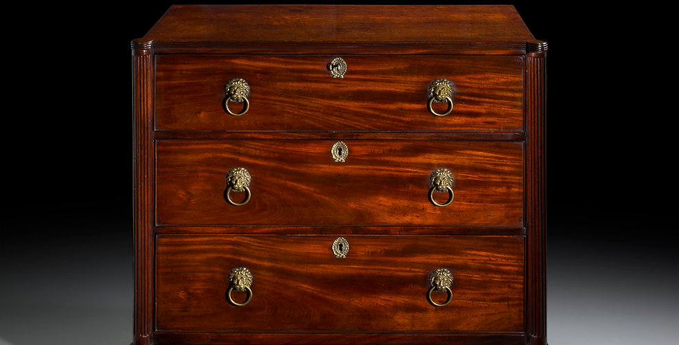 George III Mahogany Chest of Drawers, in the manner of Gillows