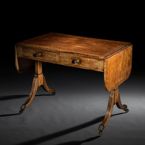 Antique Sofa Table in Mahogany of Regency Period, attributed to Gillows