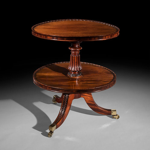 Regency Mahogany Two Tier Round Table, Attributed to Gillows