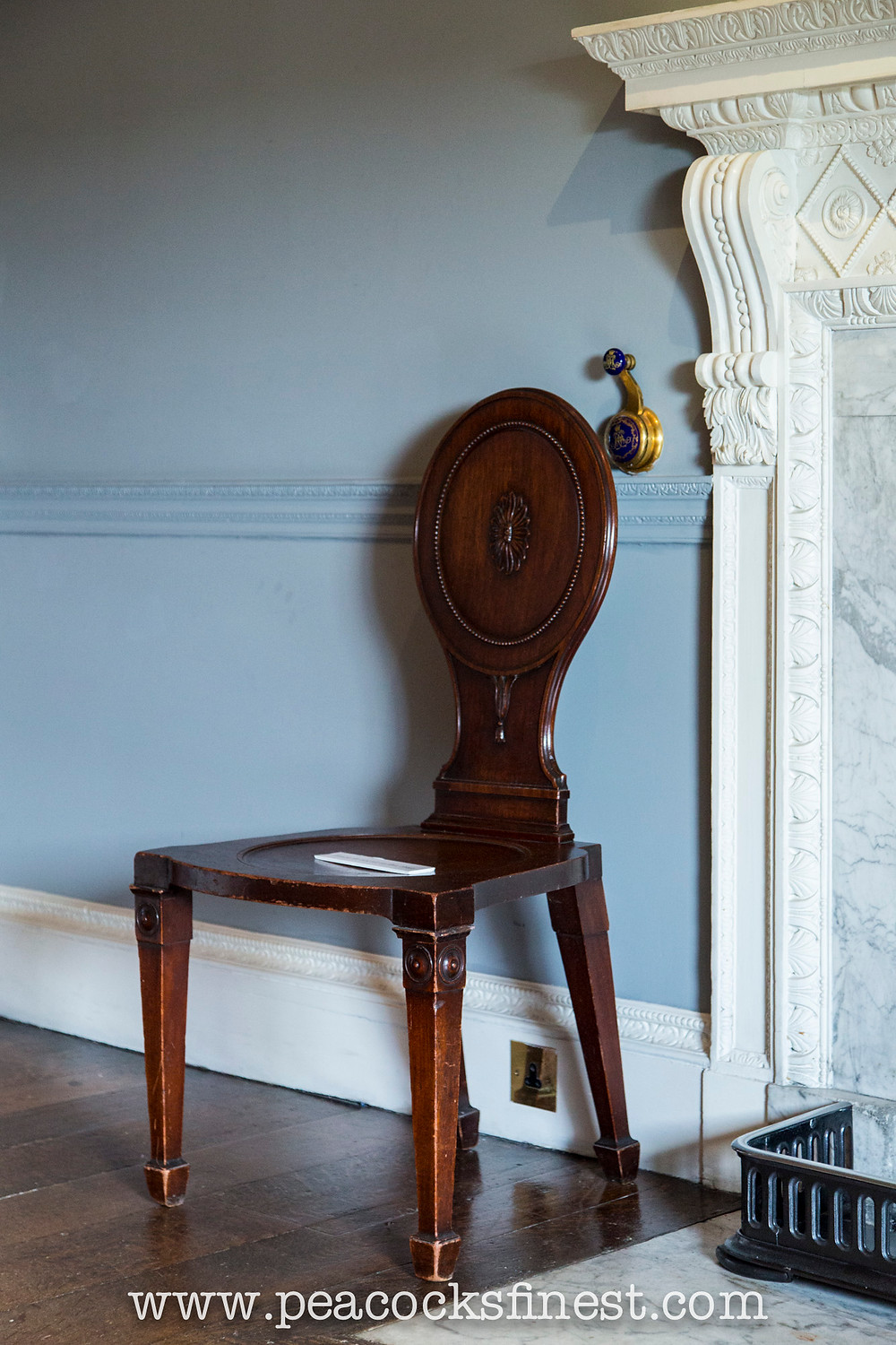 Chippendale hall chair at Harewood House