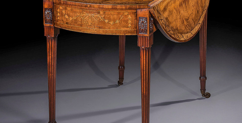 George III Sabicu & Marquetry Table attributed to Chippendale Junior