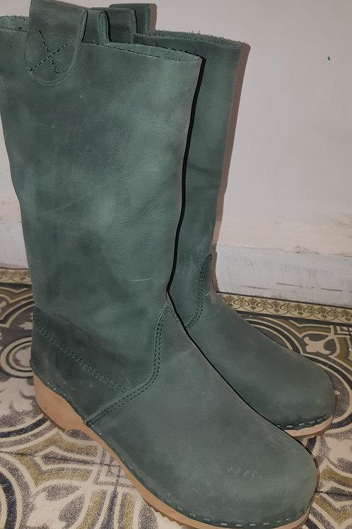 מגפיים ירוק יער עקב בהיר