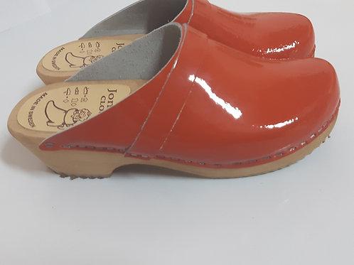 Low heel orange peach nail polish